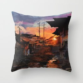 Where Heroes Are Throw Pillow