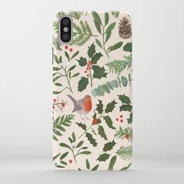 Robin in a Winter Garden iPhone Case