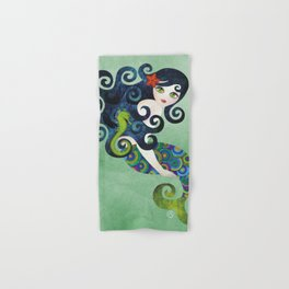 Aquamarine Mermaid Hand & Bath Towel