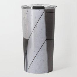 brutalist concrete architecture Travel Mug
