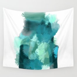 Abstract Jade Color Story Wall Tapestry