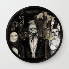 Downton Abbey Normal (Young Frankenstein Mashup) Wall Clock