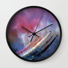 Red Arrows Wall Clock