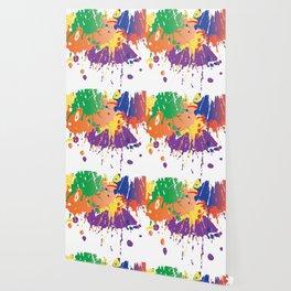 Colourful Paint splash Wallpaper