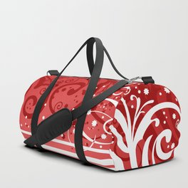 Abstract red-white background Duffle Bag