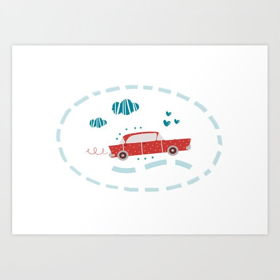 A ride Art Print