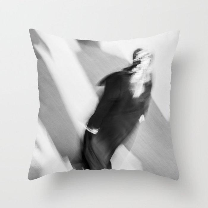 Turkish woman is walking Throw Pillow