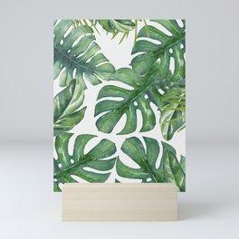 Monstera Leaves Mini Art Print