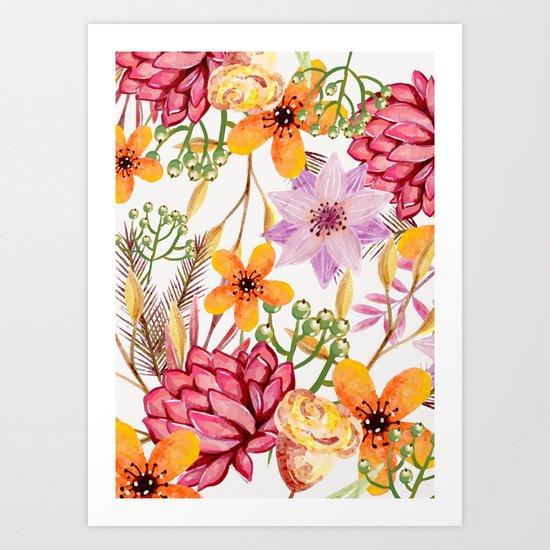 Flowers -a11 Art Print