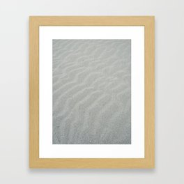 Natural wave patern Framed Art Print