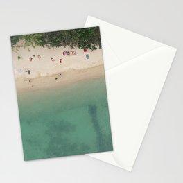 Aerial Secret Beach Koh Phangan Thailand Stationery Cards