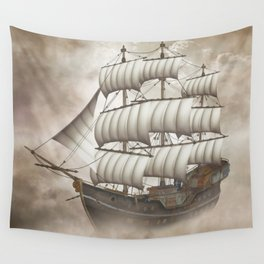 Cloud Ship Wall Tapestry