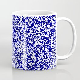 Tiny Spots - White and Dark Blue Coffee Mug