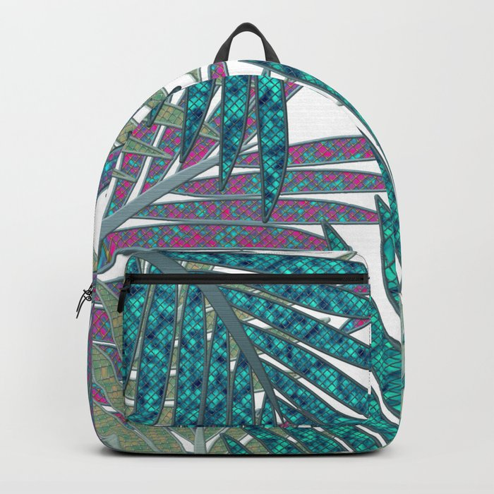 TROPICAL LEAVES GARDEN W Backpack