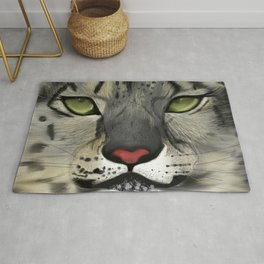 Snow Leopard - the Eyes Have It Rug