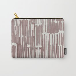 Simply Bamboo Brushstroke Red Earth on Lunar Gray Carry-All Pouch