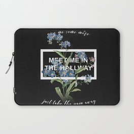 Harry Styles Meet me in the hallway graphic design artwork Laptop Sleeve