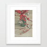 holiday Framed Art Prints featuring Holiday by Olivia Joy StClaire