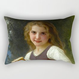 "William-Adolphe Bouguereau ""Le goûter aux champs"" Rectangular Pillow"
