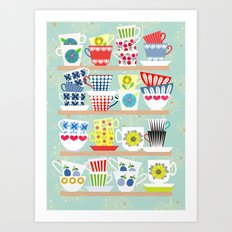 Scadinavian Cups Collection Art Print