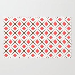 Chocolate Brown + Coral:  Pattern No.1 Rug