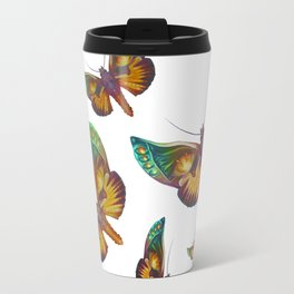 """Fantasy multicolored butterflies"" Travel Mug"