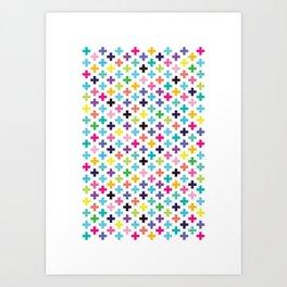 Plus Rainbow I Art Print