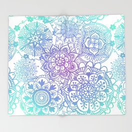 Pastel Mandala Pattern Throw Blanket