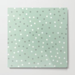 mint green stars Metal Print