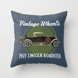 Vintage Wheels: 1927 Lincoln Roadster Throw Pillow