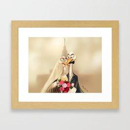 crane wedding Framed Art Print