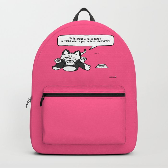 the wise cat - intelligence Backpack
