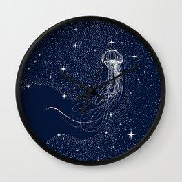starry jellyfish Wall Clock