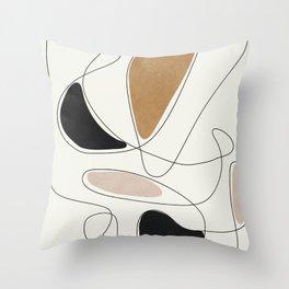 Thin Flow III Throw Pillow