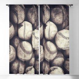 Bucket of Baseballs Blackout Curtain