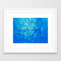 aquarius Framed Art Prints featuring Aquarius  by HollyJonesEcu