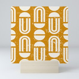 MACHA GEO GOLD Mini Art Print