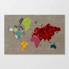 Simi's Map of the World Canvas Print