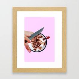 Cereal killer Framed Art Print