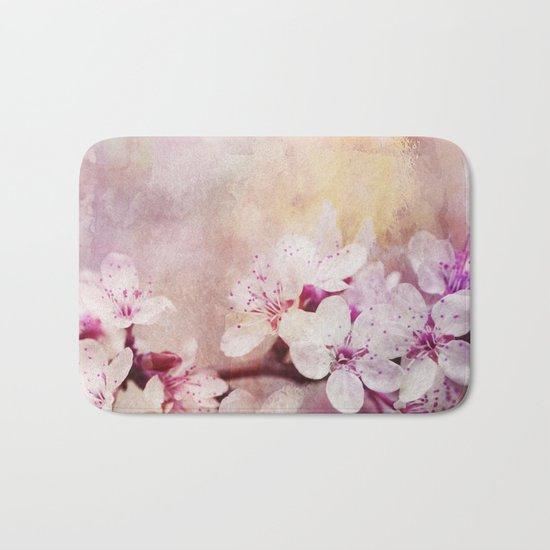 Pink Pastel Cherry Blossom Sakura Bath Mat