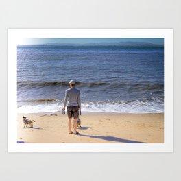 La promenade des chiens Art Print