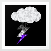 asexual Art Prints featuring Asexual Storm Cloud by Casira Copes