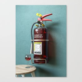 In Case Of Emergency - Wine Extinguisher Canvas Print