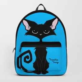 Black Cat - Cool Blue Backpack