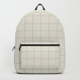 Minimal Grid - Greige Backpack