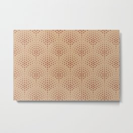 Cavern Clay SW 7701 Polka Dot Scallop Fan Pattern on Ligonier Tan SW 7717 Metal Print