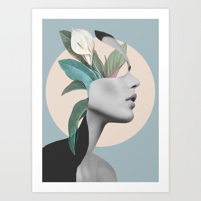 Floral Portrait /collage Kunstdrucke