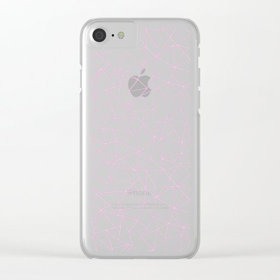 Ab Repeat Hot Pink B Clear iPhone Case