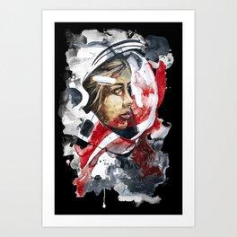 cosmonaut portrait by carographic Art Print