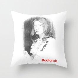Sissy Spacek (Badlands,1973) Throw Pillow